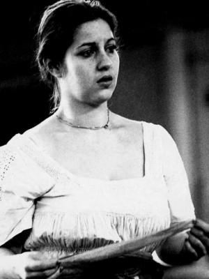 "Barbara Frey als Bianca in ""Othello"" von William Shakespeare, Regie Peter Palitzsch, 1978 am Schauspiel Frankfurt/Main, Intendant: Peter Palitzsch, Foto: © Mara Eggert"